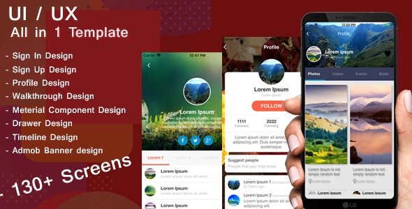ALL IN 1 TEMPLATE React native - CodeCanyon Item for Sale