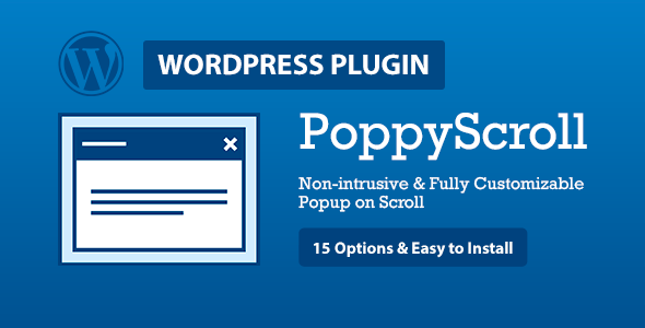 PoppyScroll WP - Non-Intrusive Responsive Popup on Scroll for Wordpress