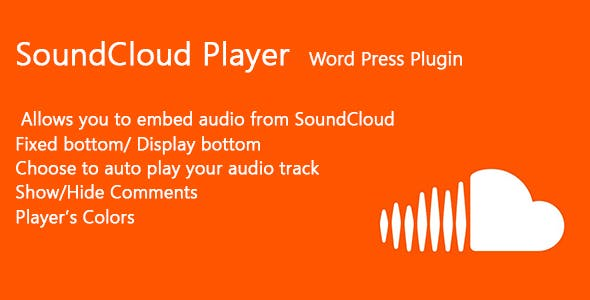SoundCloud Player Word Press Plugin