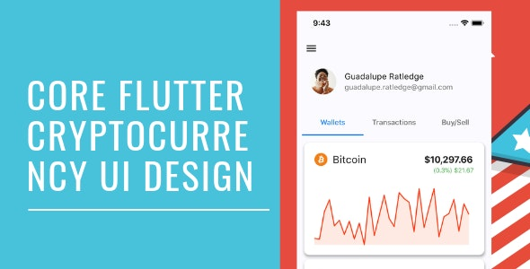 Core Flutter Cryptocurrency app UI - CodeCanyon Item for Sale