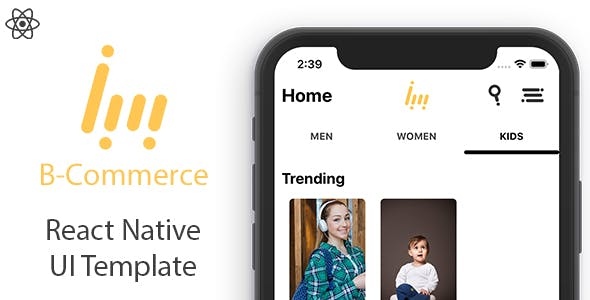 B Commerce - React Native UI Template