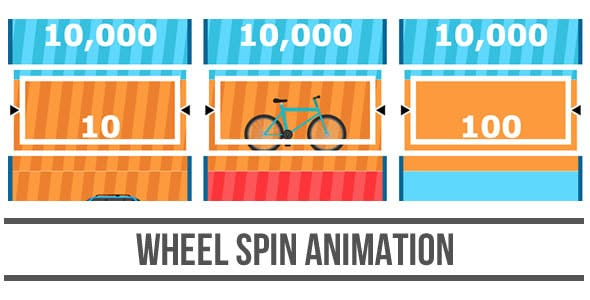 Wheel Spin Animation