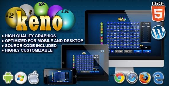 Keno - HTML5 Casino Game