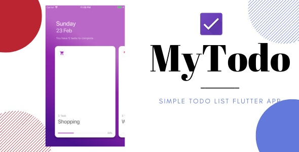 MyTodo- Todo List Flutter App by livecodes | CodeCanyon