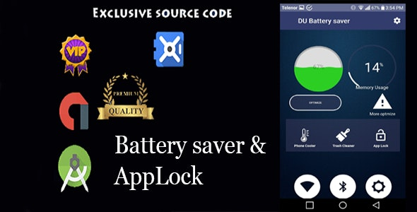Trash Cleaner, Fast Charger & Battery Saver, App lock with