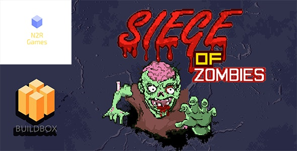 Siege of Zombies - Buildbox Game Template - CodeCanyon Item for Sale