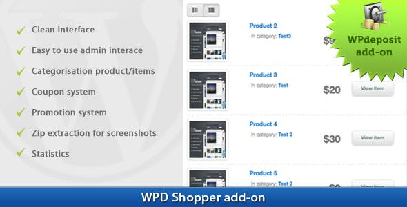 WPD Shopper add-on