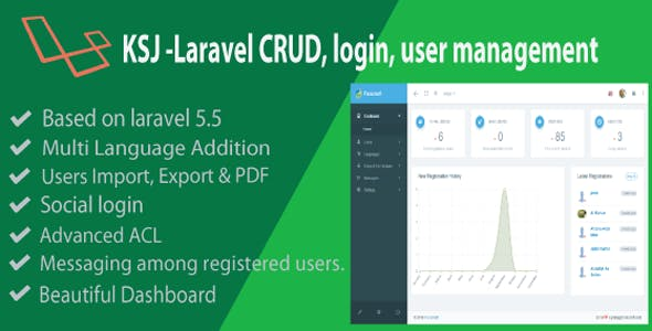 KSJ Laravel CRUD & Login Management