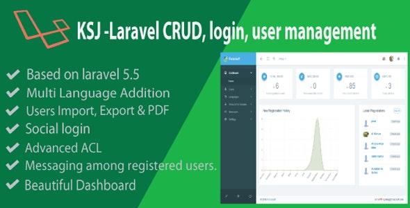 KSJ Laravel CRUD & Login Management - CodeCanyon Item for Sale