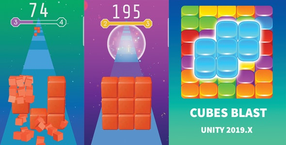 Cubes Blast – Bricks Breaker - CodeCanyon Item for Sale