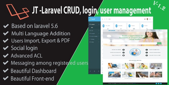 JT Laravel CRUD & Login Management - CodeCanyon Item for Sale