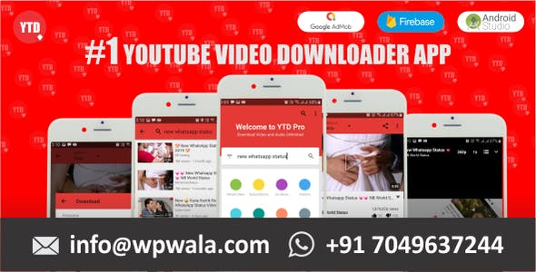 YTD Pro | A Youtube Video Downloader Android app With Facebook audience Network ads