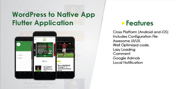 WordPress to Native App Flutter Application