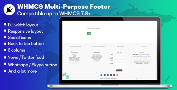 WHMCS Multi-purpose Footer - CodeCanyon Item for Sale