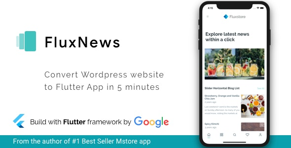 FluxNews - FluxNews - Flutter mobile app for Wordpress by