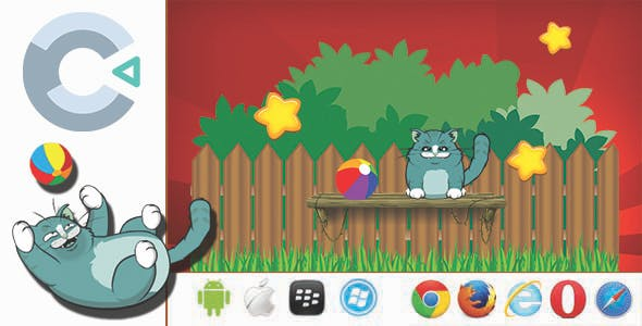 Play With Kitty- HTML5 Game + Mobile Version + ADMOB (Construct 3 / C3P)