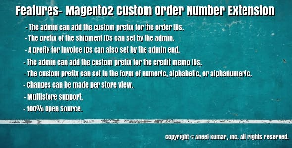 Magento2 Custom Order Number Extension