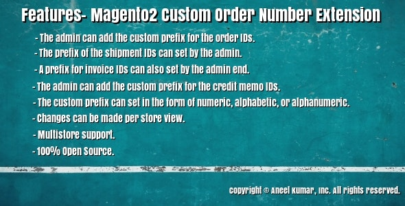 Magento2 Custom Order Number Extension - CodeCanyon Item for Sale