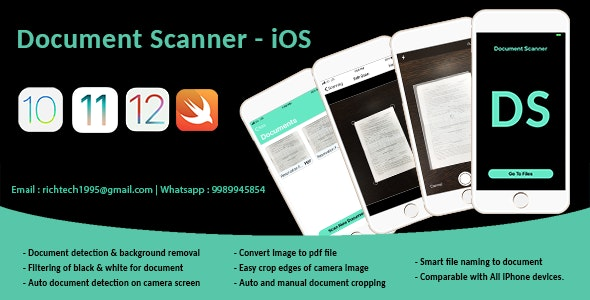 Smart Document Scanner | Admob | IOS - CodeCanyon Item for Sale