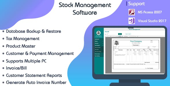 Stock Management System-C# WPF-Ms Access