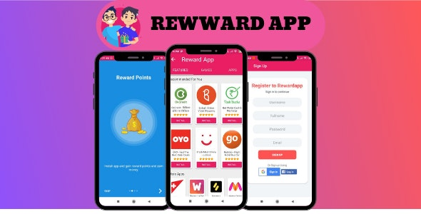 Rewardapp – Android reward points & earning app source code