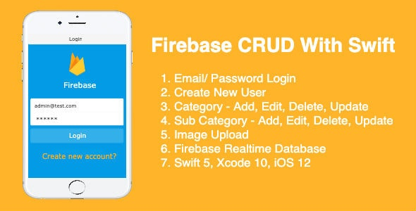 Firebase CRUD With Swift - CodeCanyon Item for Sale