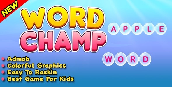Word Champ + Word Typing Trivia Puzzle Game For Android & IOS In Unity - CodeCanyon Item for Sale
