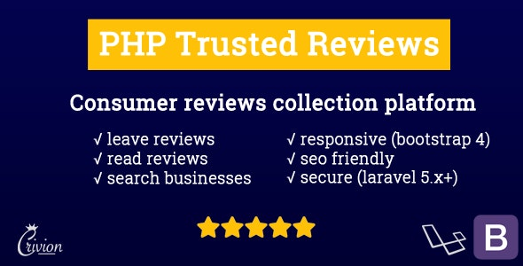 PHP Trusted Reviews - CodeCanyon Item for Sale