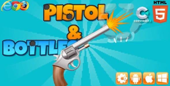 Pistol & Bottles - HTML5 Game (capx)