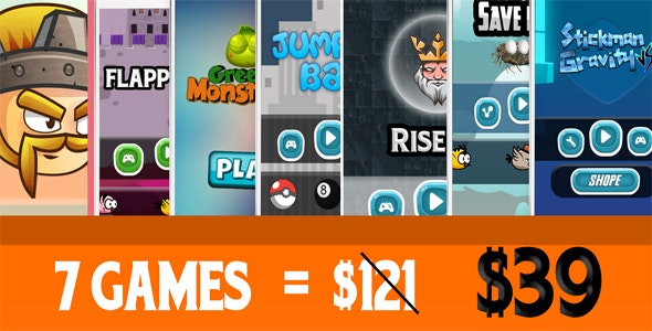 Mega Bundle 7 Games N1 - Buildbox Projects        Nulled