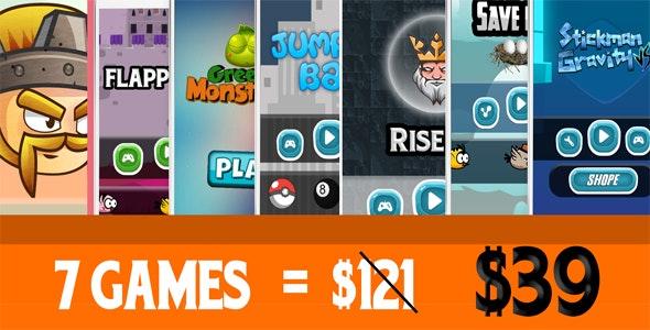 Mega Bundle 7 Games - Android Studio + Admob - CodeCanyon Item for Sale