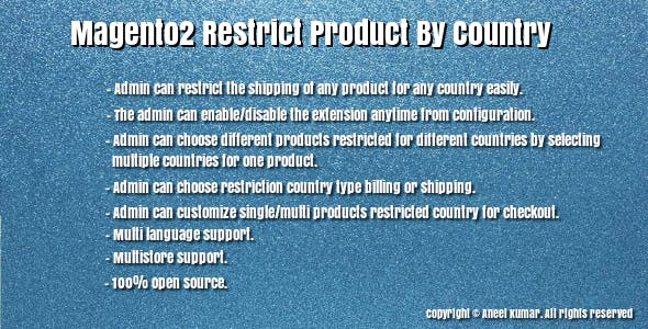 Magento2 Restrict Product By Country