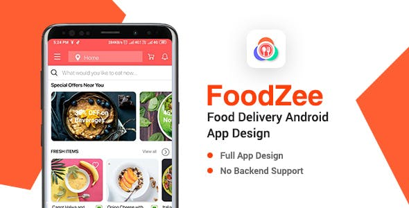Foodzee - Food Delivery App Design for Android