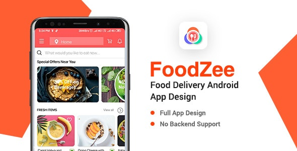 Foodzee - Food Delivery App Design for Android - CodeCanyon Item for Sale