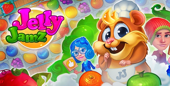 Candy Crushing  Jelly Jamz  - Match 3 Puzzle (Android + IOS) - CodeCanyon Item for Sale