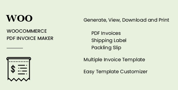 WooCommerce PDF Invoice Maker        Nulled