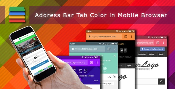 Address Bar Tab Theme Color in Mobile Browser - CodeCanyon Item for Sale