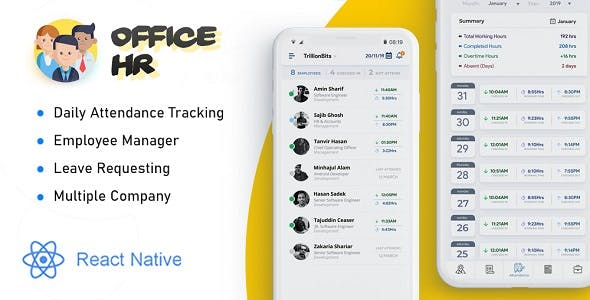 Office HR - Attendance, Employee Tracking , Leaves & Notice  Board: Smart Business Tracker