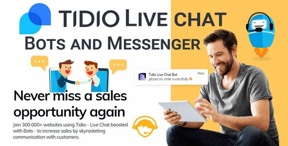 Tidio Live Chat, Bots and Messenger        Nulled