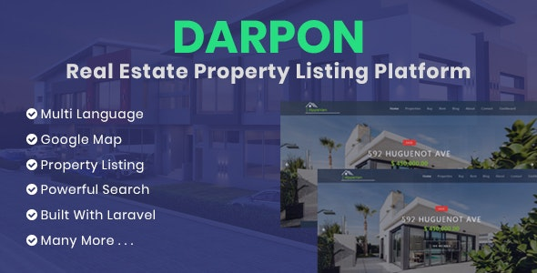 DARPON - Real Estate Property Listing Platform - CodeCanyon Item for Sale