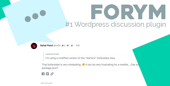 Forym - Modern Discussion Forum for Wordpress - CodeCanyon Item for Sale