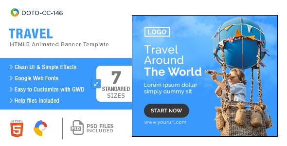 Travel HTML5 Banners - 7 Sizes