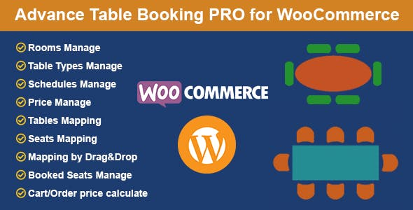 Restaurant Reservation - Table Booking with Seat Reservation for WooCommerce