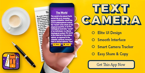 Text Scanner : Image to text ( Native android app ) - CodeCanyon Item for Sale