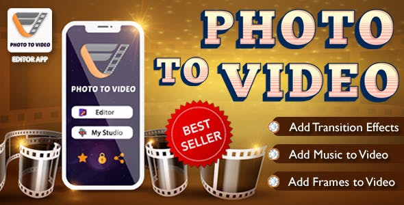 Photo To Video App - Android Source Code ,Native(android 10)