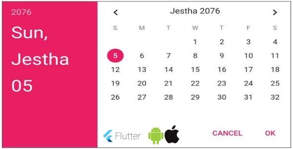 Flutter Nepali Date Tools - ios , android