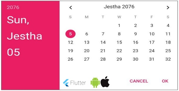 Flutter Nepali Date Tools - ios , android - CodeCanyon Item for Sale