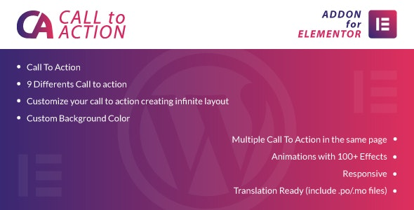 Call To Action for Elementor WordPress Plugin - CodeCanyon Item for Sale