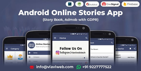 Android Online Stories App (Story Book, Admob with GDPR)