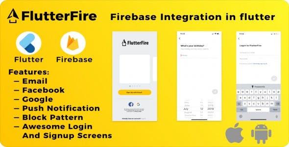 FlutterFire - Firebase integration in flutter.